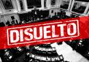 DISUELVEN CONGRESO DE LA REPÚBLICA