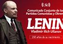 Comunicado Conjunto de los Partidos Comunistas y Obreros sobre los 150 años del nacimiento de V.I. Lenin